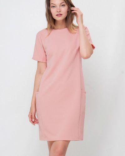 Платье розовое осеннее Лимонти