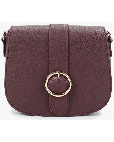 Кожаный сумка через плечо бордовый Dorothy Perkins