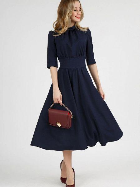 Повседневное платье синее весеннее Marichuell