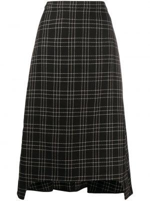 Czarny wełniany spódnica Alexander Mcqueen