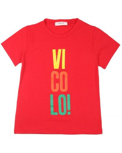 Czerwona t-shirt Vicolo