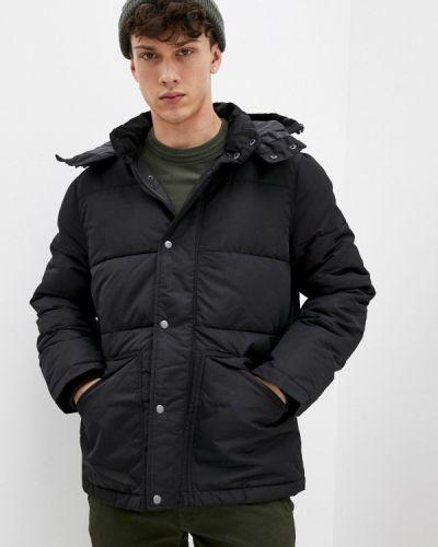 Утепленная черная куртка Gap