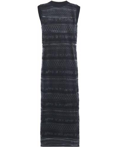 Черное платье миди из вискозы Mcq Alexander Mcqueen