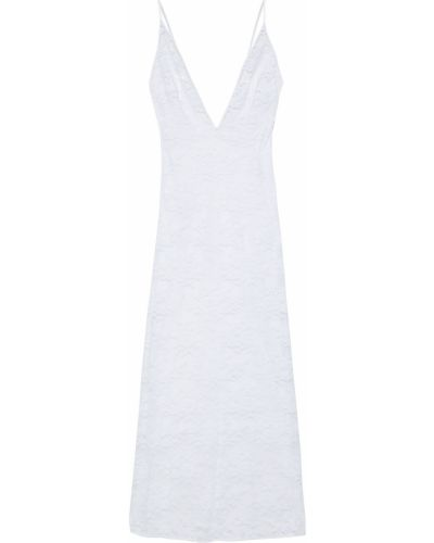 Biała satynowa koszula nocna koronkowa Stella Mccartney