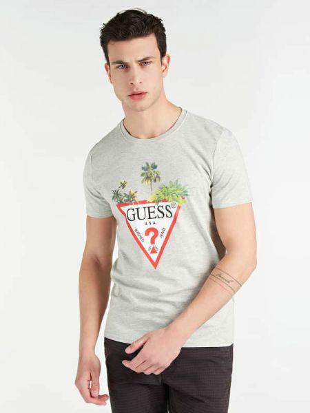 Koszula krótkie z krótkim rękawem wełniany z logo Guess