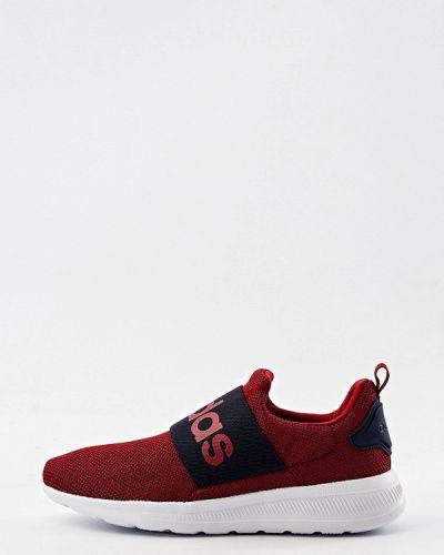 Бордовые текстильные кроссовки Adidas