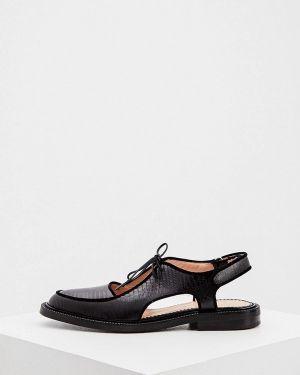 Кожаные черные сандалии Inch2