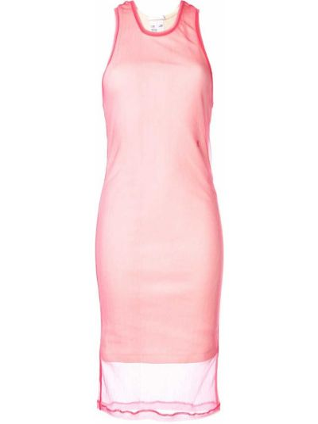 Платье розовое прямое Helmut Lang