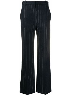 Синие расклешенные брюки с карманами на молнии Nina Ricci