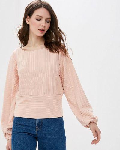 Блузка с длинным рукавом розовая весенний Sela