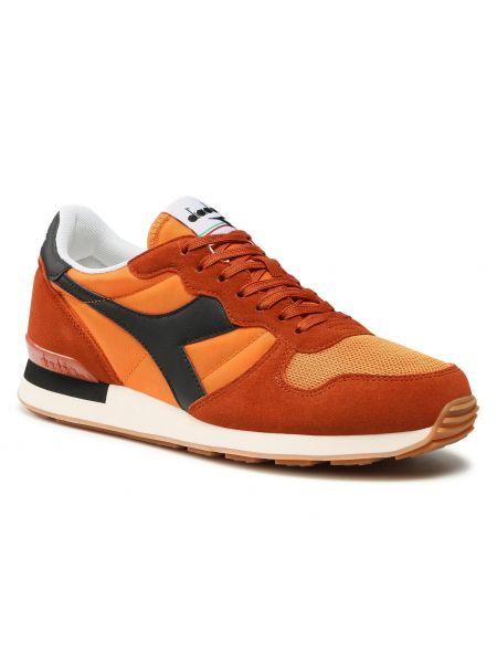 Buty sportowe skorzane - pomarańczowe Diadora