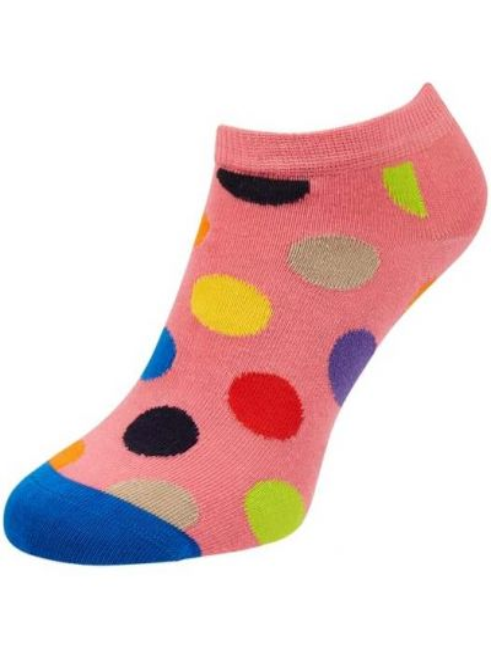 Prążkowane różowe skarpety bawełniane Happy Socks