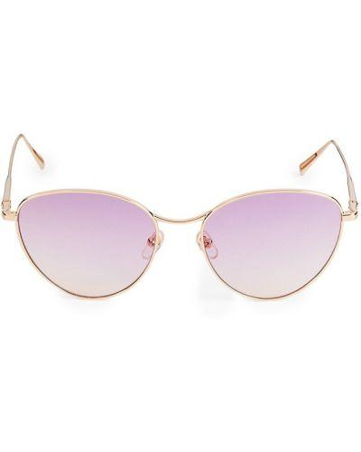 Солнцезащитные очки металлические - золотые Longchamp