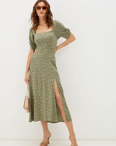 Прямое платье - хаки Imocean
