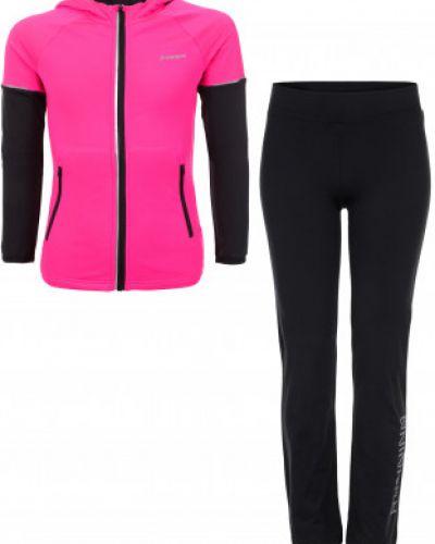 Розовый спортивный костюм с капюшоном Demix