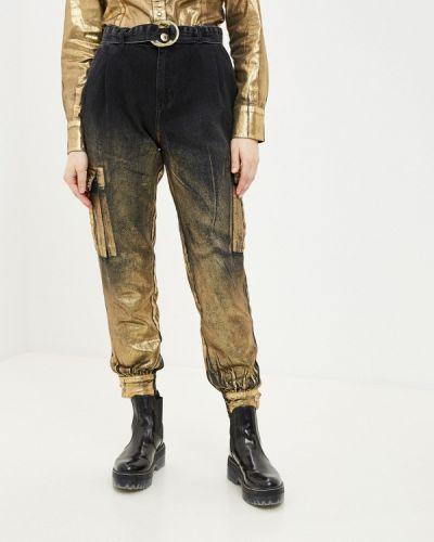 Черные прямые джинсы D'she