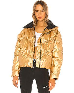 Нейлоновая дутая куртка с манжетами Nike
