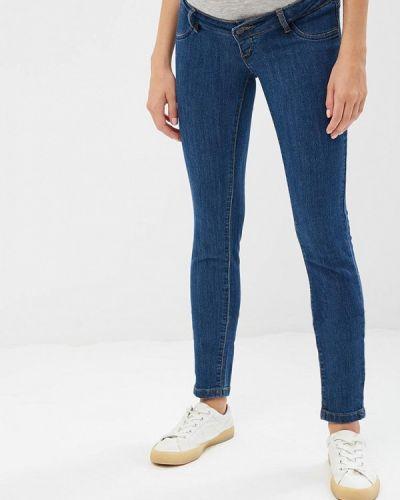 Синие джинсы с высокой посадкой Mama.licious