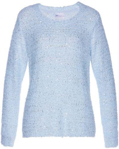 Фиолетовый пуловер с пайетками Bonprix