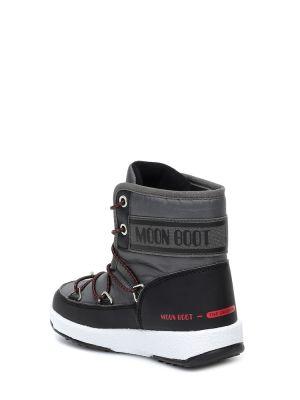 Miejski czarny księżycowe buty Moon Boot Kids