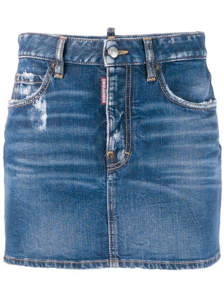 Юбка мини джинсовая на пуговицах Dsquared2