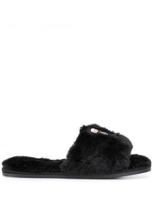 Тапочки черные плоский Karl Lagerfeld