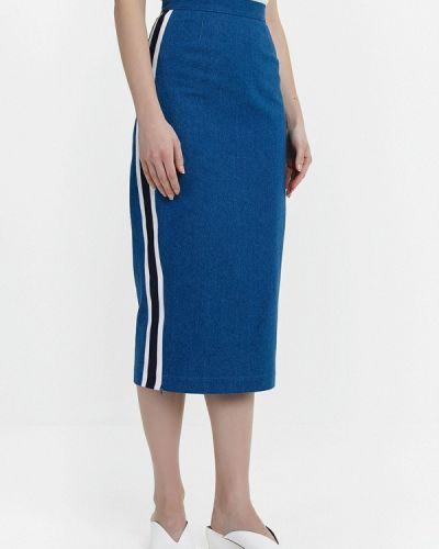 Юбка миди джинсовая синяя Audrey Right