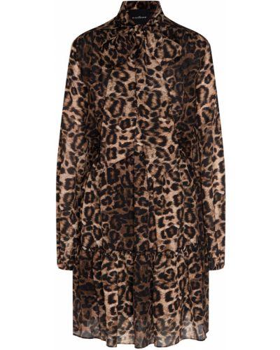 Платье мини леопардовое шелковое John Richmond