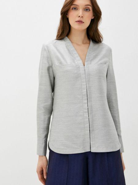 Серая блузка с длинным рукавом Белка
