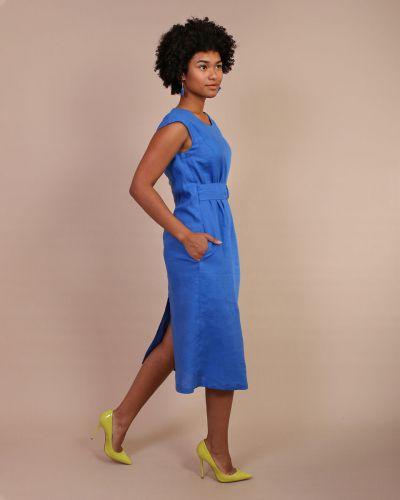 Льняное платье с карманами J-splash