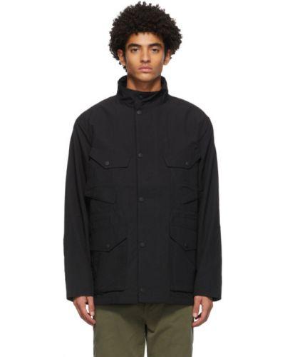 Czarna długa kurtka bawełniana z długimi rękawami Rag & Bone