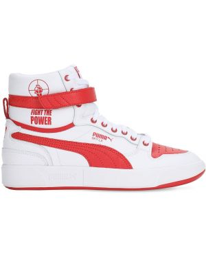 Biały top koronkowy sznurowany Puma Select