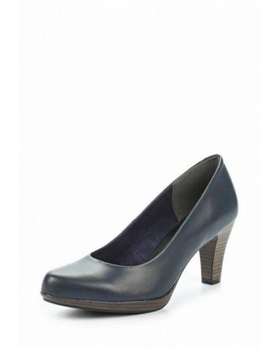 Синие туфли для офиса Marco Tozzi