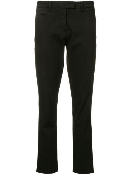 Черные укороченные брюки с поясом узкого кроя Peuterey