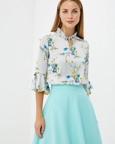 Серая блузка с рюшами Vittoria Vicci