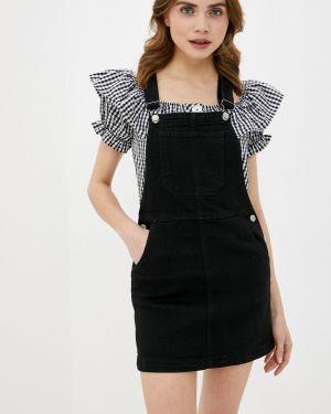Платье платье-сарафан черное Brave Soul