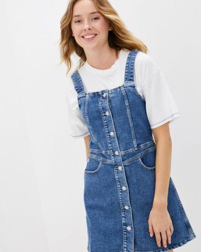 Джинсовое платье - голубое Calvin Klein Jeans