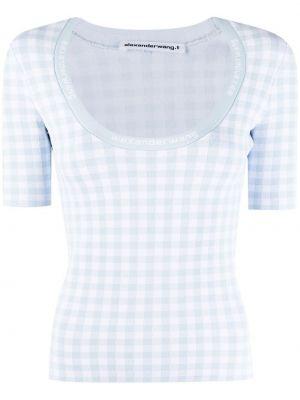 Прямая белая футболка из вискозы Alexanderwang.t