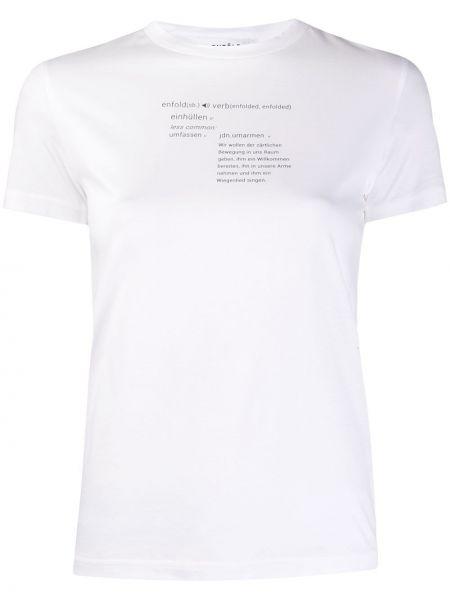 Koszula z krótkim rękawem biała z nadrukiem Enfold
