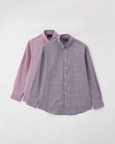 Разноцветная рубашка - фиолетовая Marks & Spencer