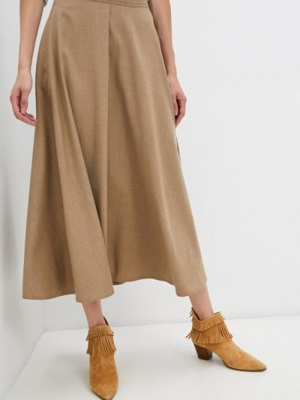 Коричневая зимняя юбка Weekend Max Mara