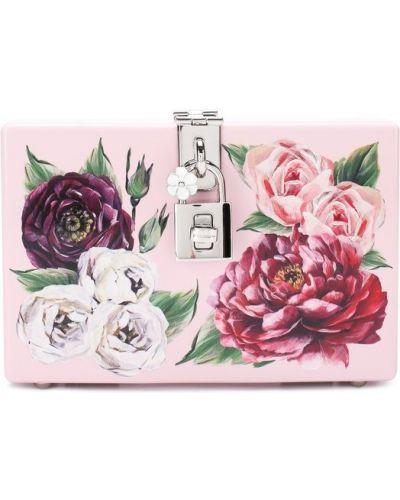 Розовая вечерняя сумка Dolce & Gabbana