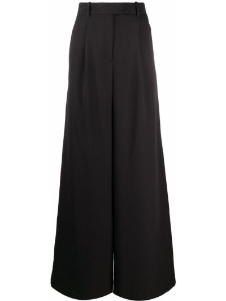 Czarne spodnie z wysokim stanem z paskiem Murmur