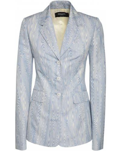 Синяя куртка с карманами с манжетами Rochas