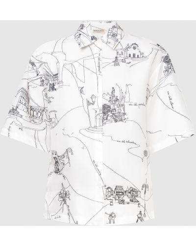 Шелковая белая блузка Emilio Pucci