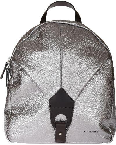 Рюкзак на молнии серебряный Cromia