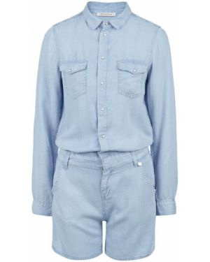 Джинсовый комбинезон с шортами синий Rich&royal