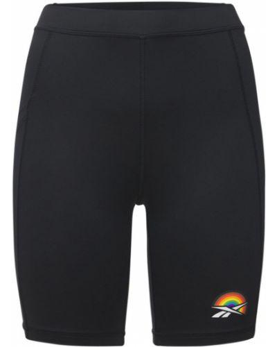 Черные шорты с завышенной талией Reebok Classics
