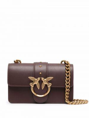Кожаная сумка - коричневая Pinko