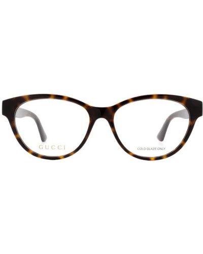 Okulary skorzane - białe Gucci